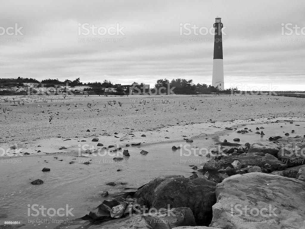 Leuchtturm schwarz und weiß Lizenzfreies stock-foto