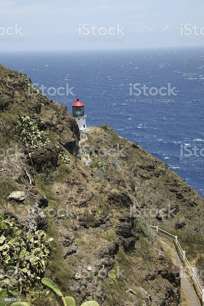 Lighthouse by the sea royalty-free stock photo