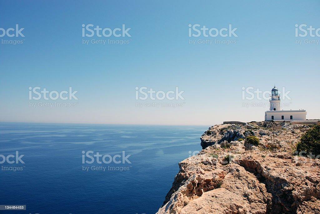 Lighthouse Cap Cavalleria stock photo