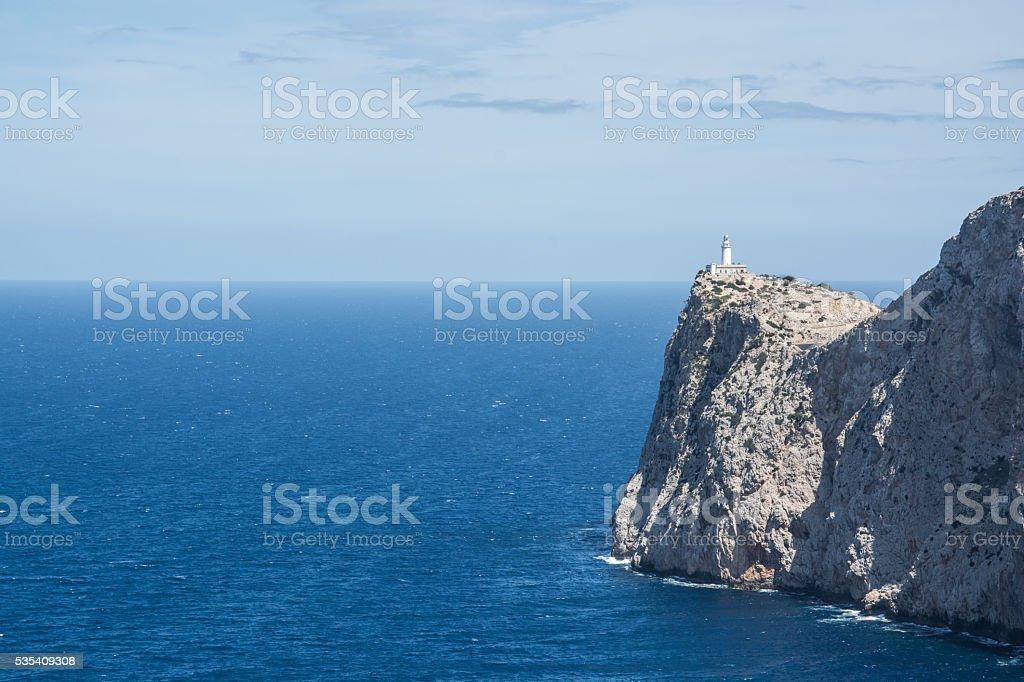 Lighthouse, Cap Formentor, Majorca, Spain stock photo