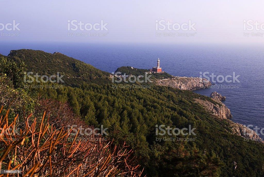 Lighthouse, Capri royalty-free stock photo