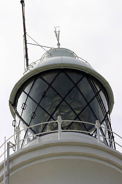 Lighthouse close up stock photo