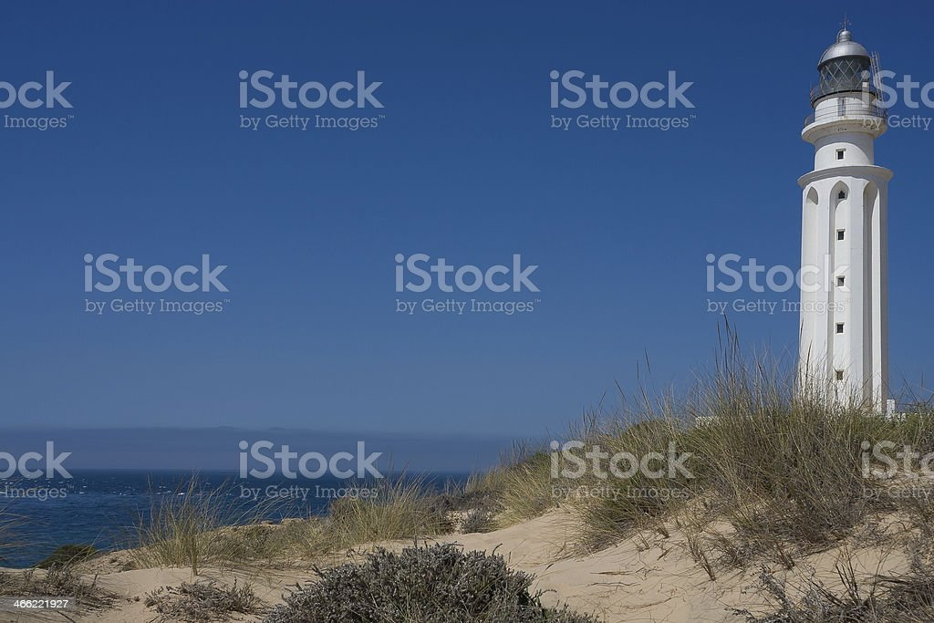 lighthouse conil spain stock photo