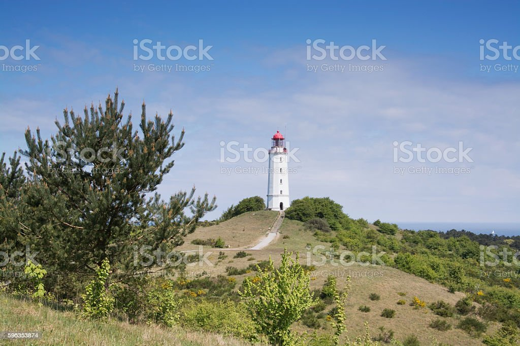 Lighthouse Dornbusch at Hiddensee royalty-free stock photo