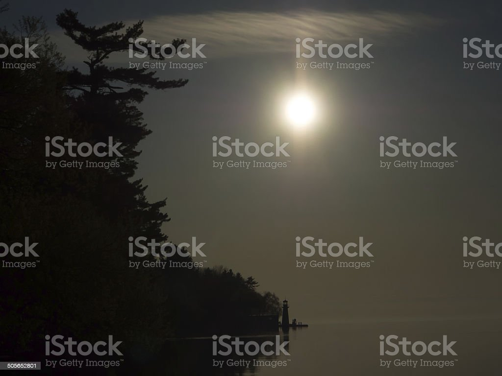 Lighthouse - early morning stock photo