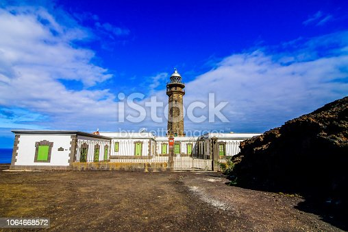 Lighthouse at the Western Place of the Canary Islands Faro de Orchilla point of the prime meridian until 1894