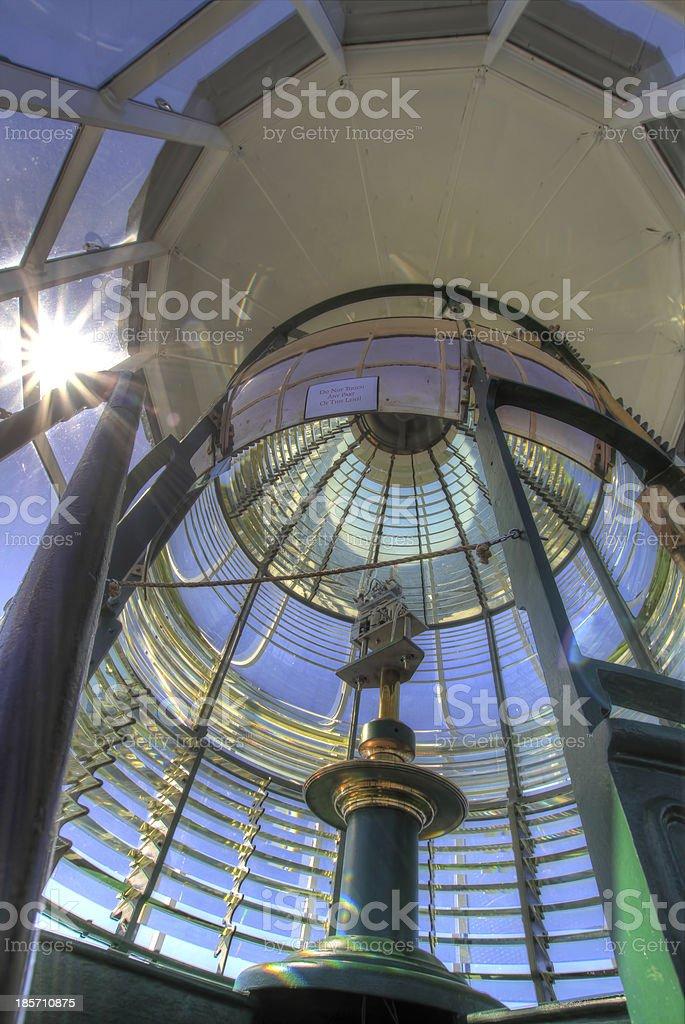 Lighthouse First Order Fresnel Lens 3 stock photo