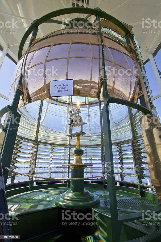 Lighthouse First Order Fresnel Lens royalty-free stock photo