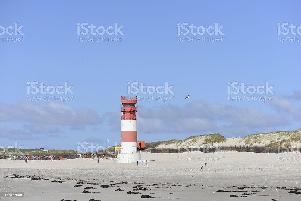 Lighthouse Helgoland stock photo