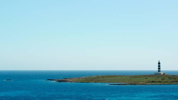 Lighthouse Illa de l'Aire, Menorca, Spain stock photo