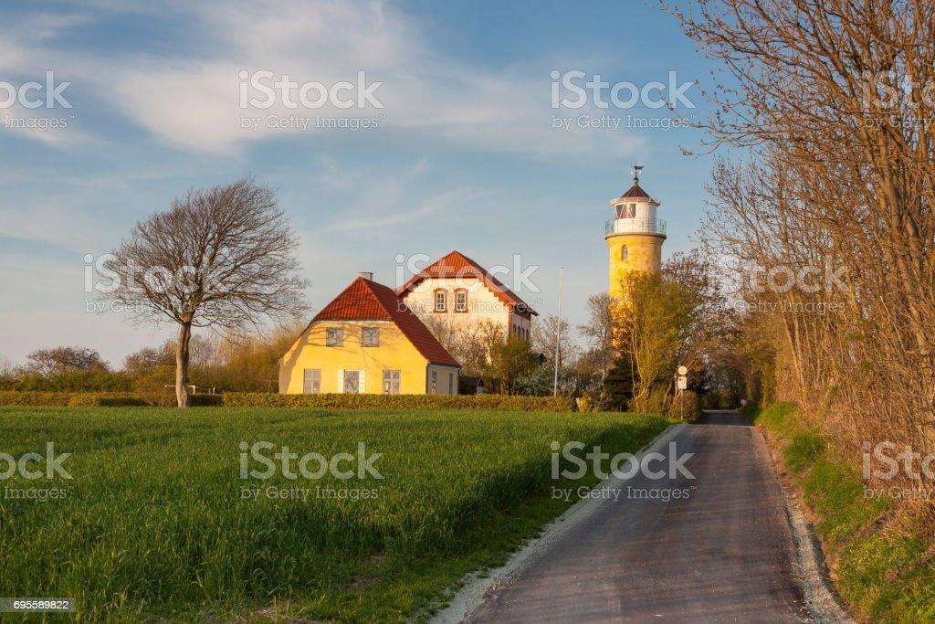 Lighthouse in Augustenhof stock photo