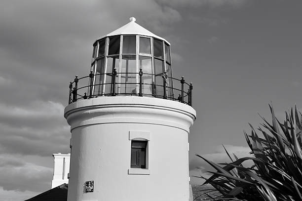 Lighthouse in Bill of Portland stock photo