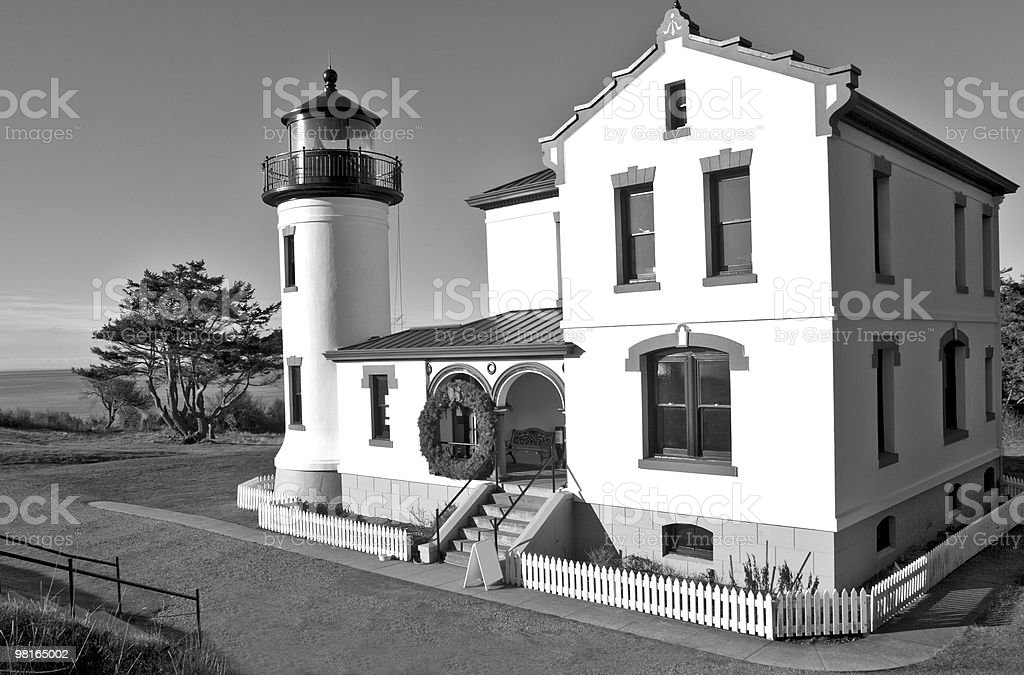 Lighthouse in Black and White royalty-free stock photo