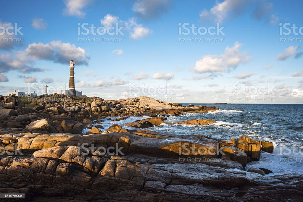 Lighthouse in Cabo Polonio stock photo