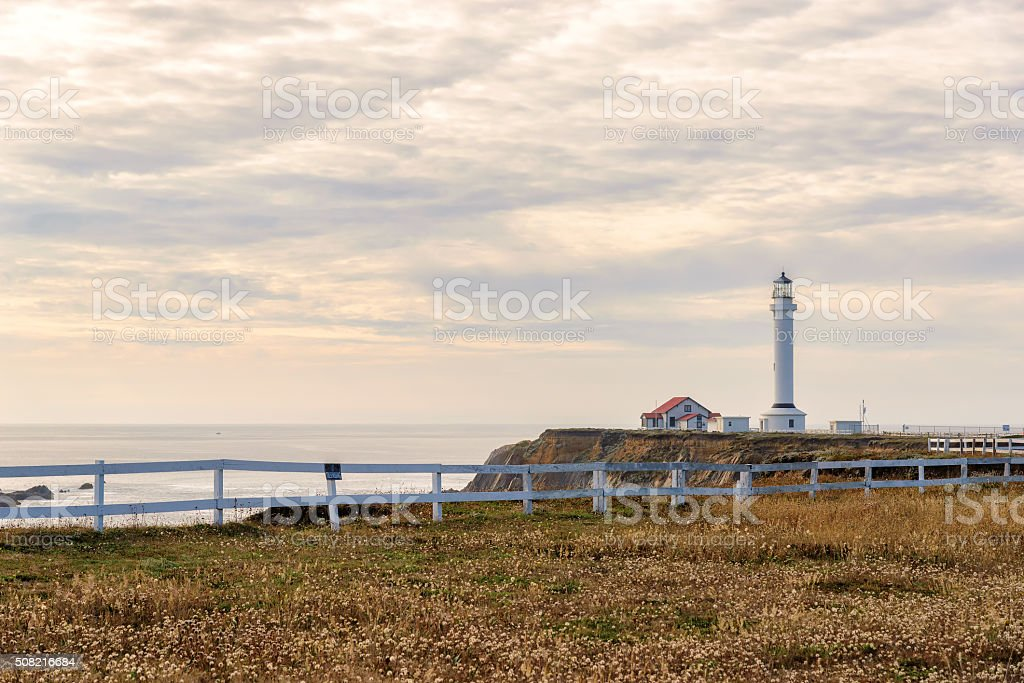 Lighthouse in California, Point Arena Lighthouse stock photo