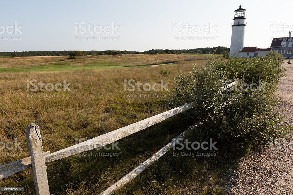 Lighthouse in Cape cod stock photo