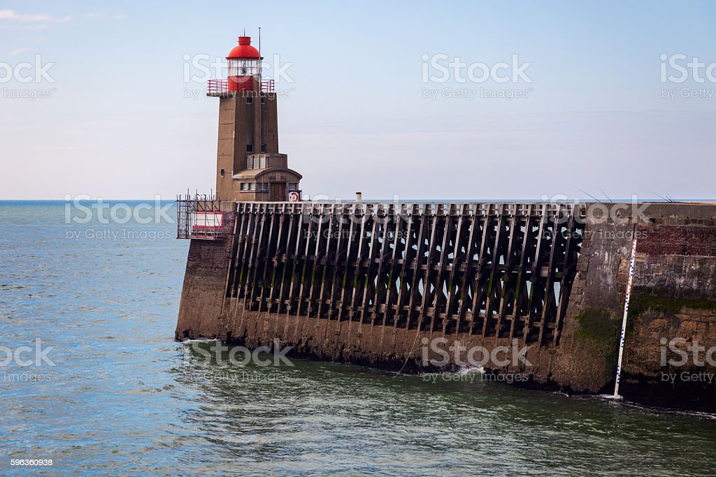 Lighthouse in Fecamp royalty-free stock photo