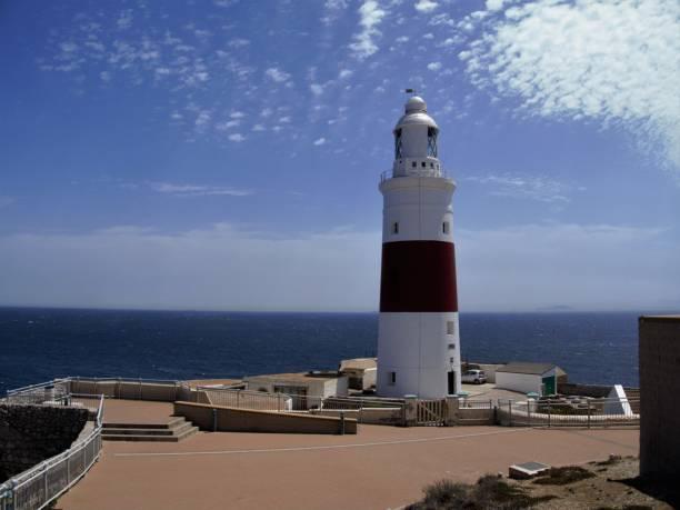 Lighthouse in Gibraltar stock photo