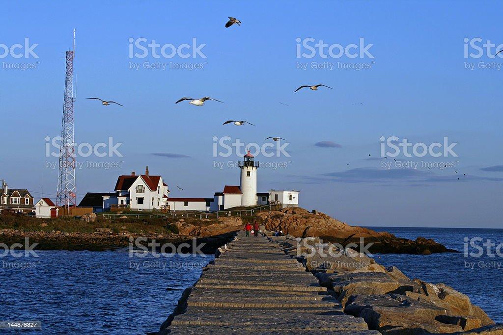 Lighthouse in Gloucester, Massachusetts royalty-free stock photo