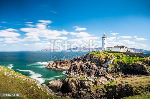 istock Lighthouse in Ireland Sea, Ocean, Coast, Atlantic, Cliffs, Rock, Landscape, Nature 1266784161