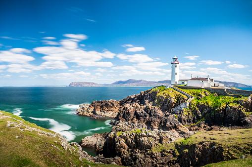 Lighthouse in Ireland Sea, Ocean, Coast, Atlantic, Cliffs, Rock, Landscape, Nature