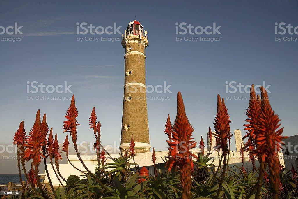 Lighthouse in Jose Ignacio stock photo