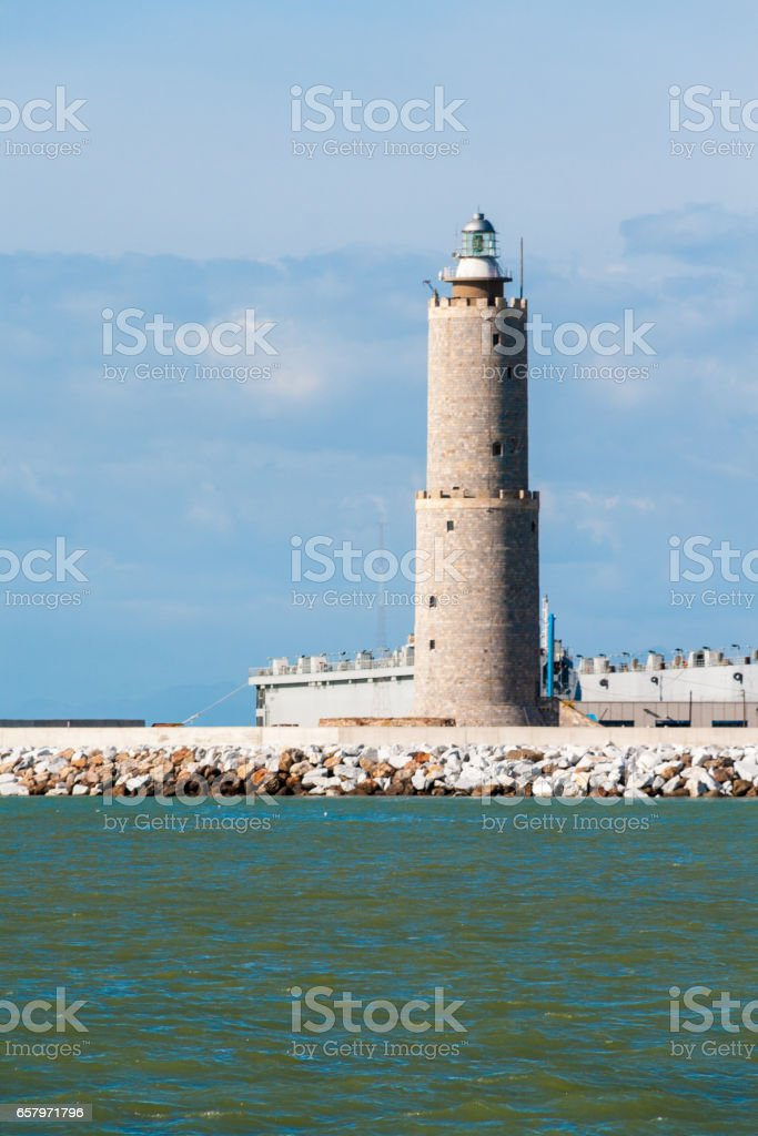 Lighthouse in Livorno, Italy stock photo