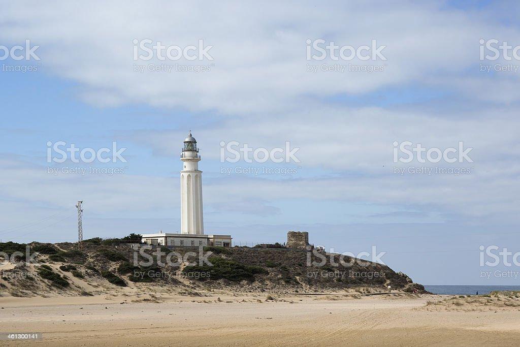 lighthouse in los cabos de meca stock photo