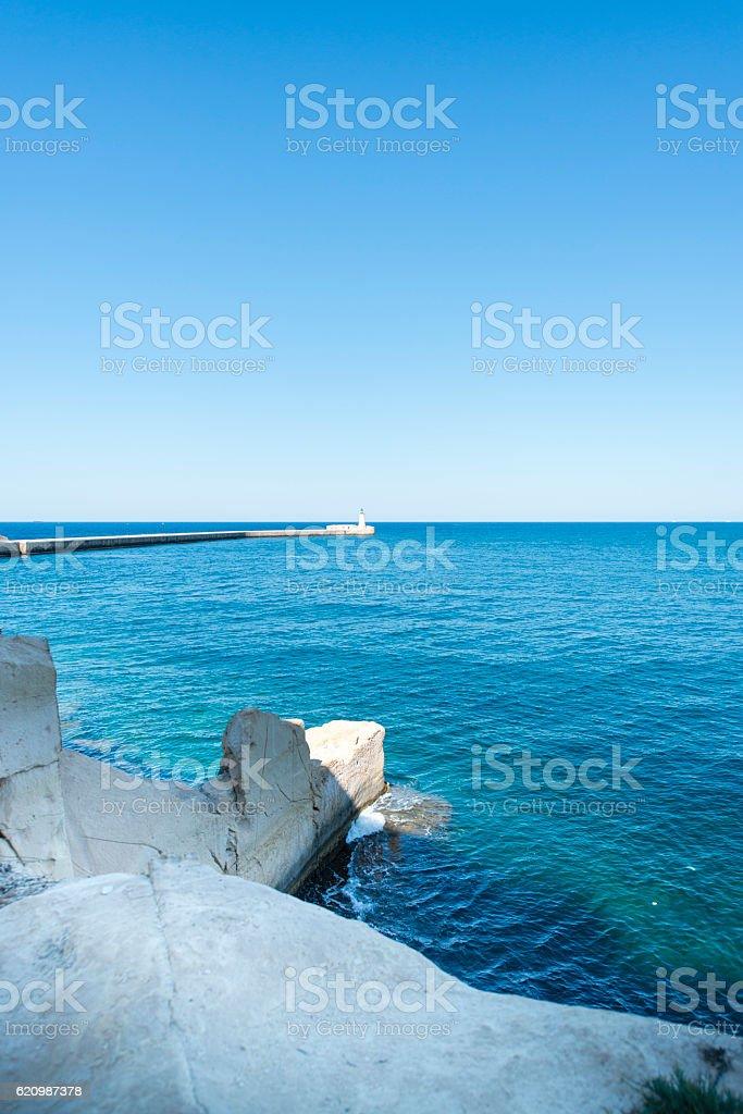 Farol em Malta foto royalty-free