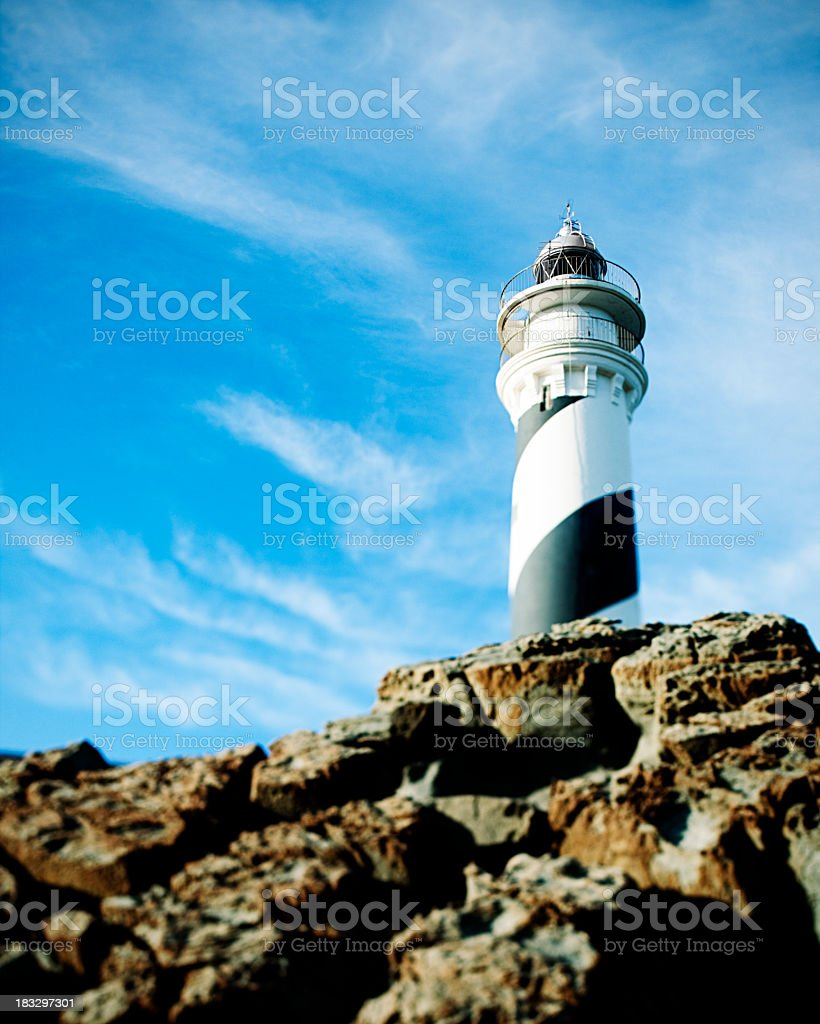 Lighthouse in Menorca royalty-free stock photo