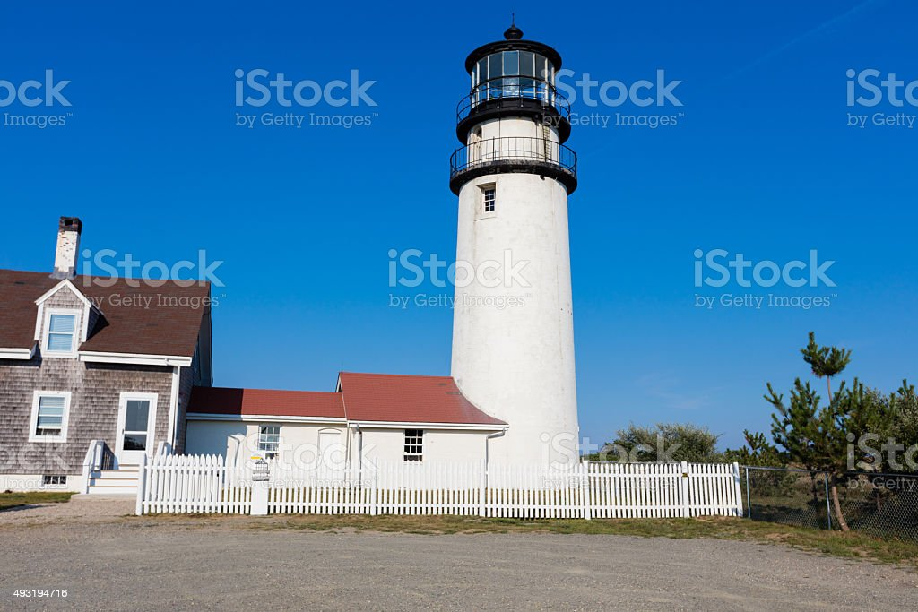 Lighthouse in New England stock photo