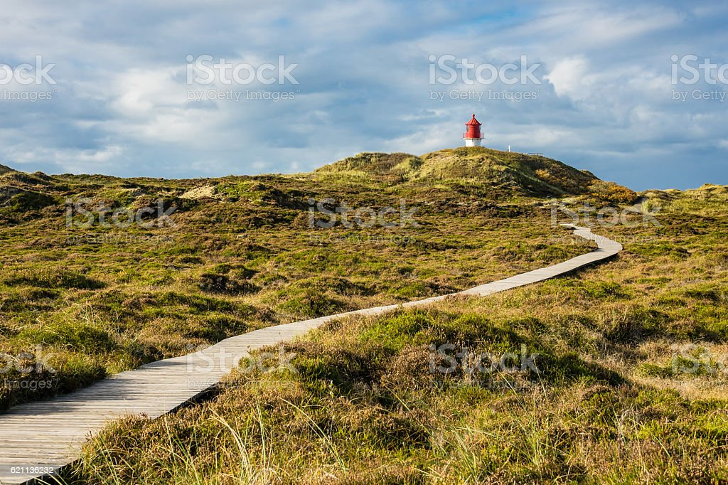 Lighthouse in Norddorf on the island Amrum stock photo