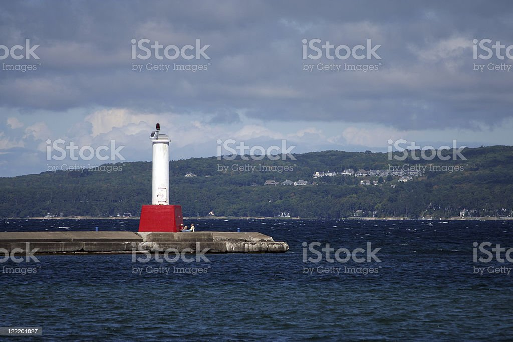 Lighthouse in Petoskey, Michigan. royalty-free stock photo