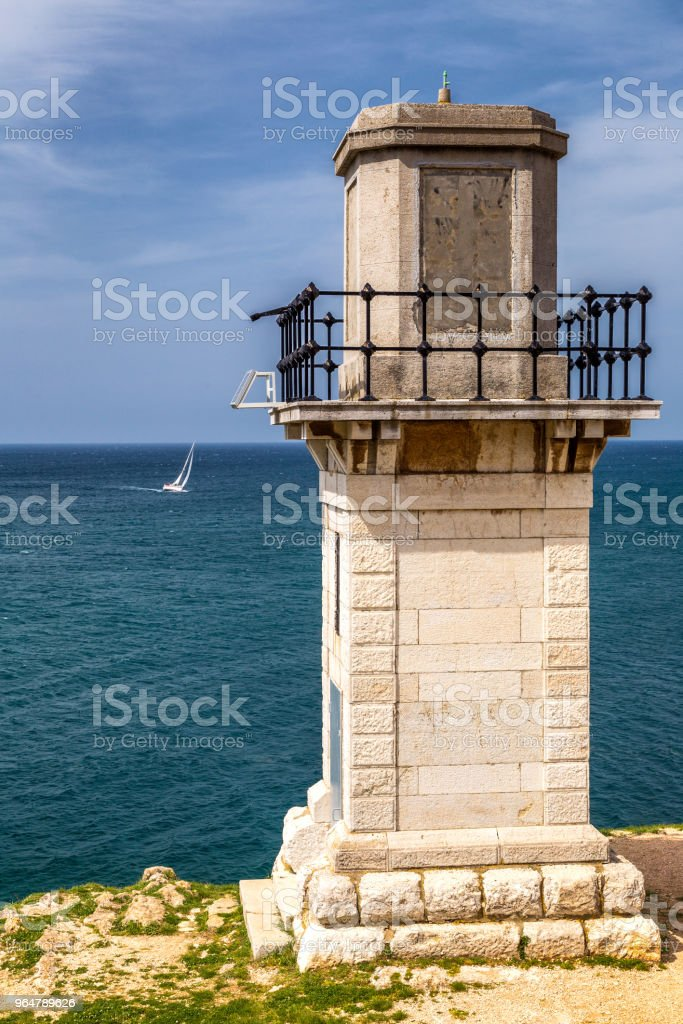 Lighthouse in Rovinj on Adriatic sea in Croatia. royalty-free stock photo