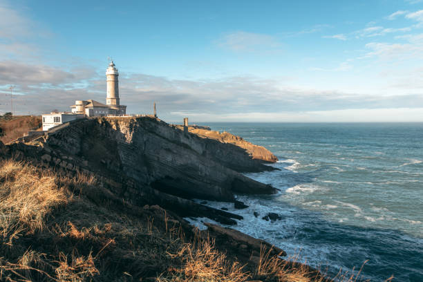 Lighthouse in Santander, Spain Cabo Mayor lighthouse in Santander, Spain santander spain stock pictures, royalty-free photos & images