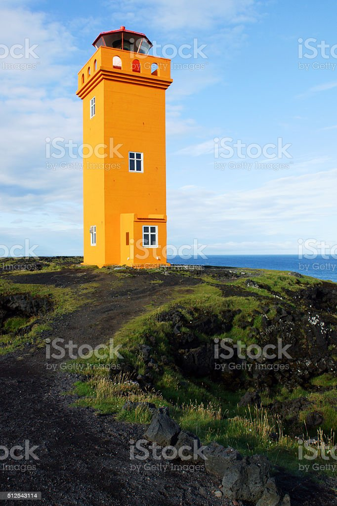 Lighthouse in Snaefellsnes, Iceland stock photo