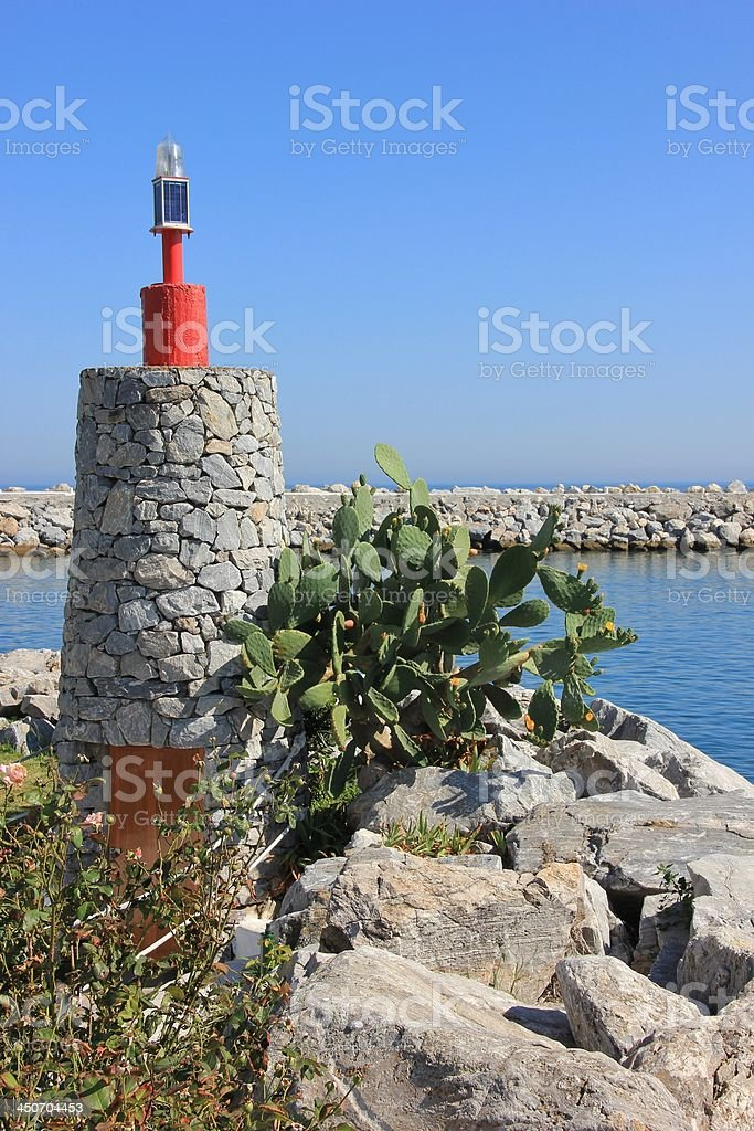 Lighthouse in Spain royalty-free stock photo