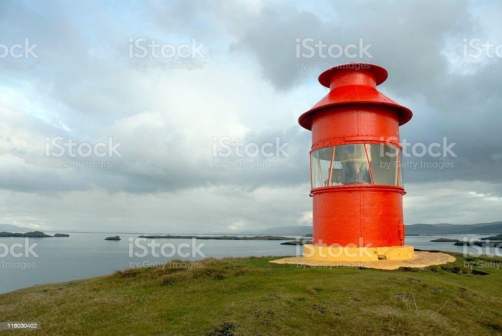 Lighthouse in Stykkisholmur,Snaefellsnes Peninsula,Iceland royalty-free stock photo
