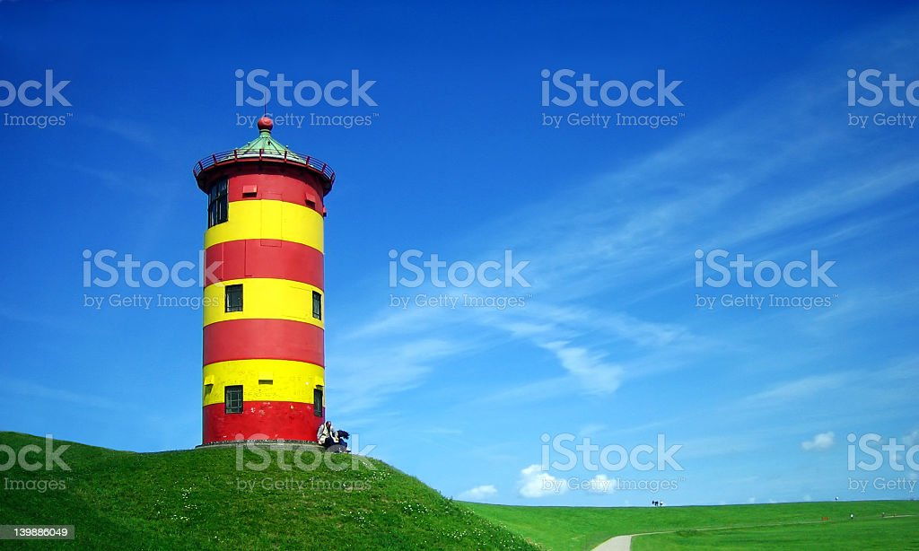 Lighthouse in summer royalty-free stock photo
