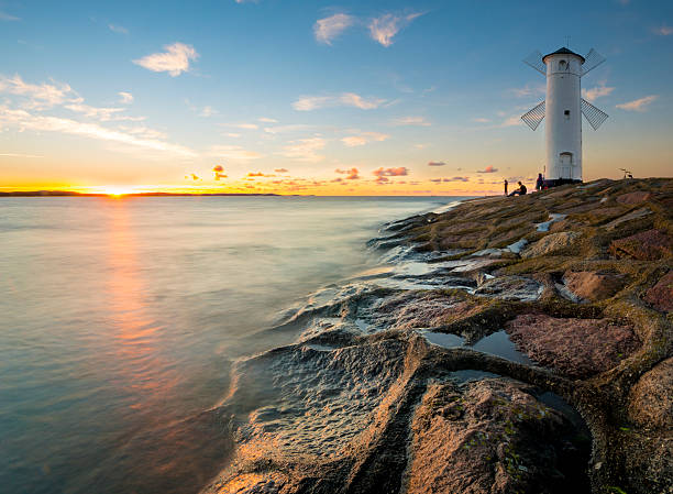 lighthouse in Swinoujscie, baltic sea, Poland