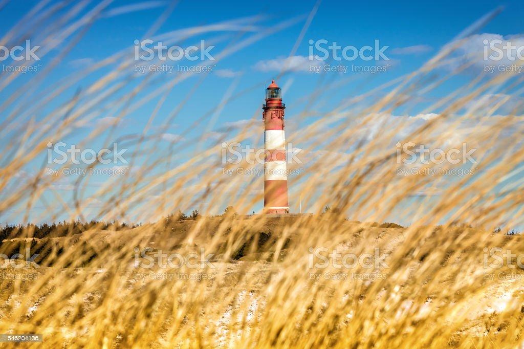 Leuchtturm in den Dünen, Amrum – Foto