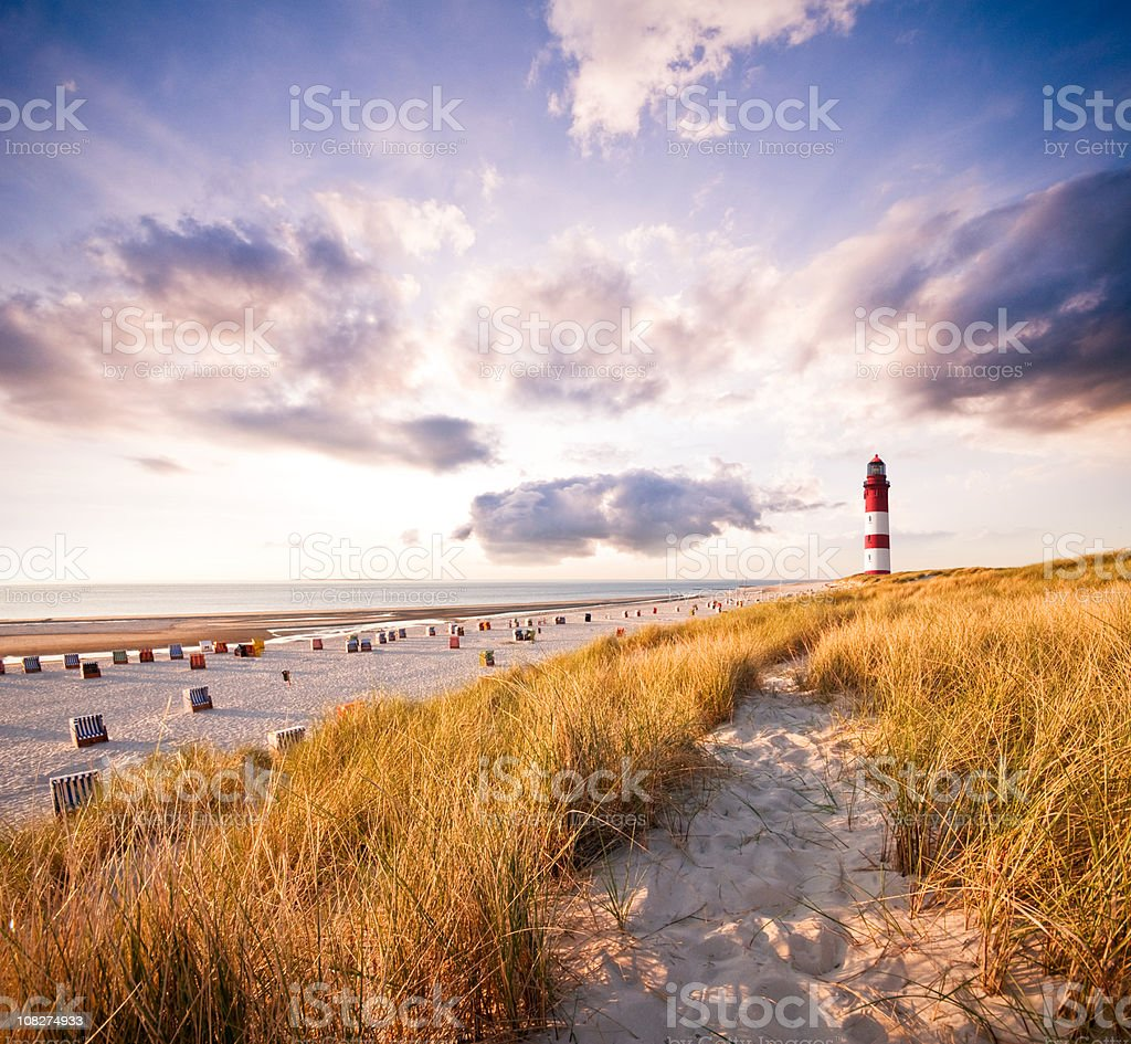 Leuchtturm in den Dünen Lizenzfreies stock-foto