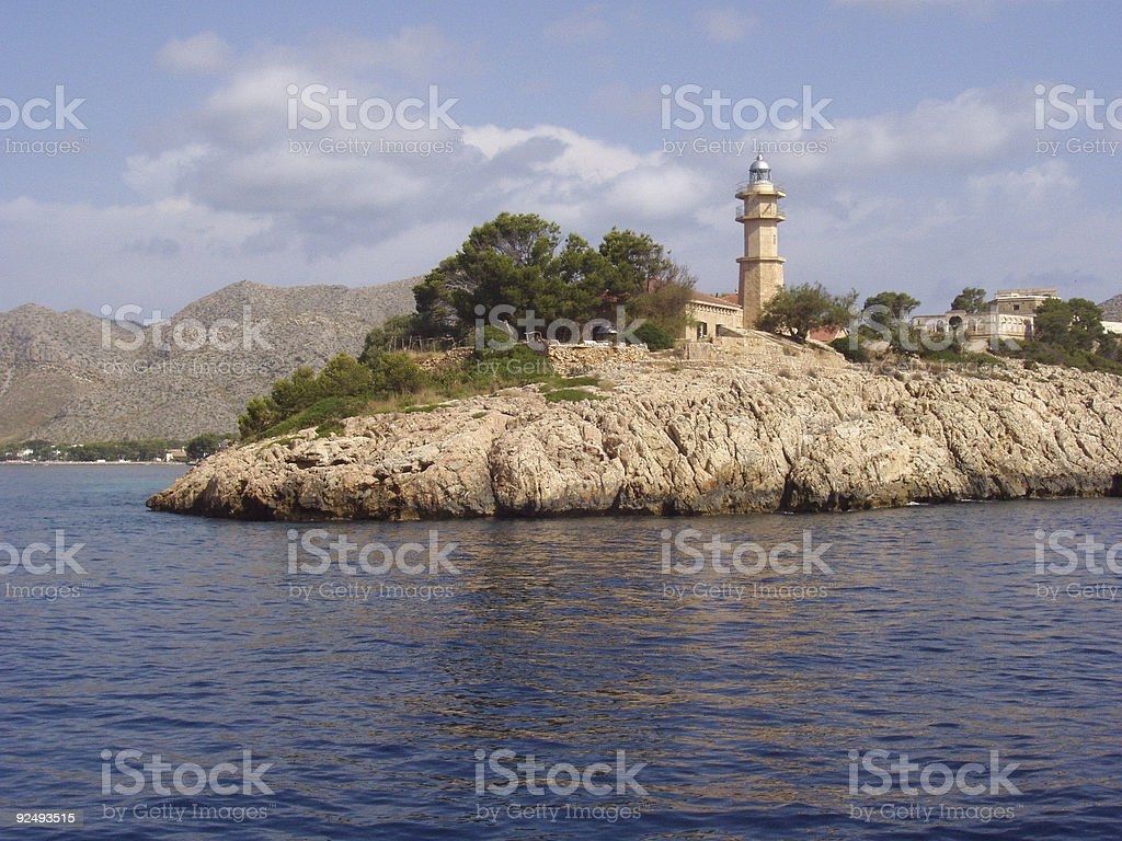 lighthouse in the island, sea royalty-free stock photo