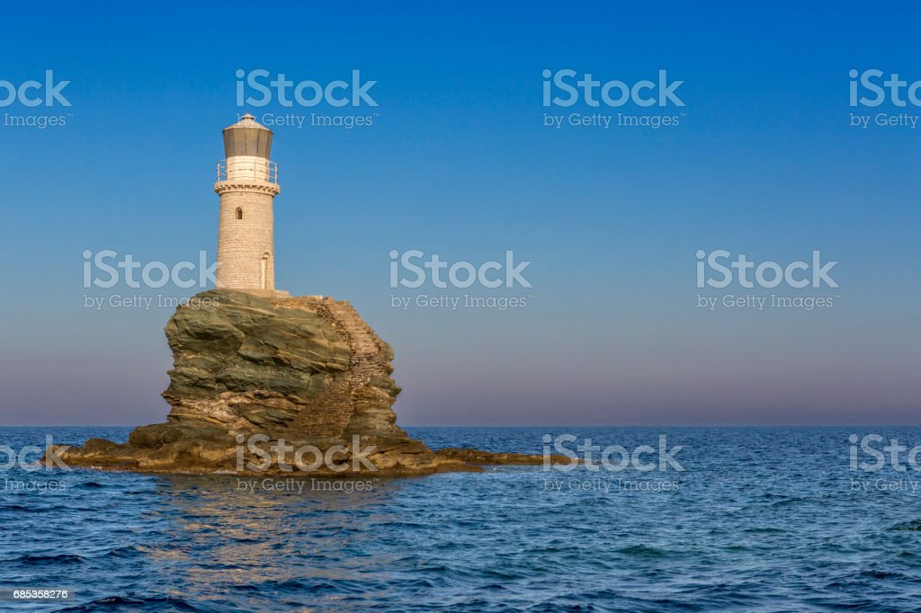 Lighthouse in the Mediterranean foto de stock royalty-free