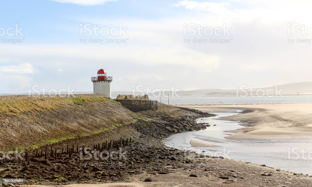 Lighthouse in the morning stock photo