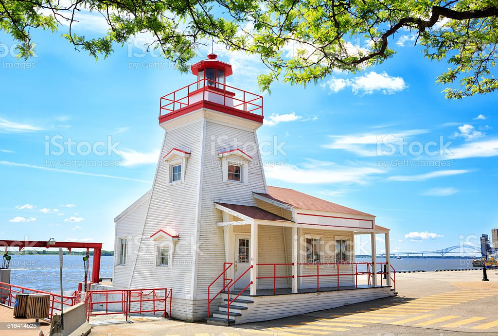 Lighthouse in Trois-Rivières stock photo