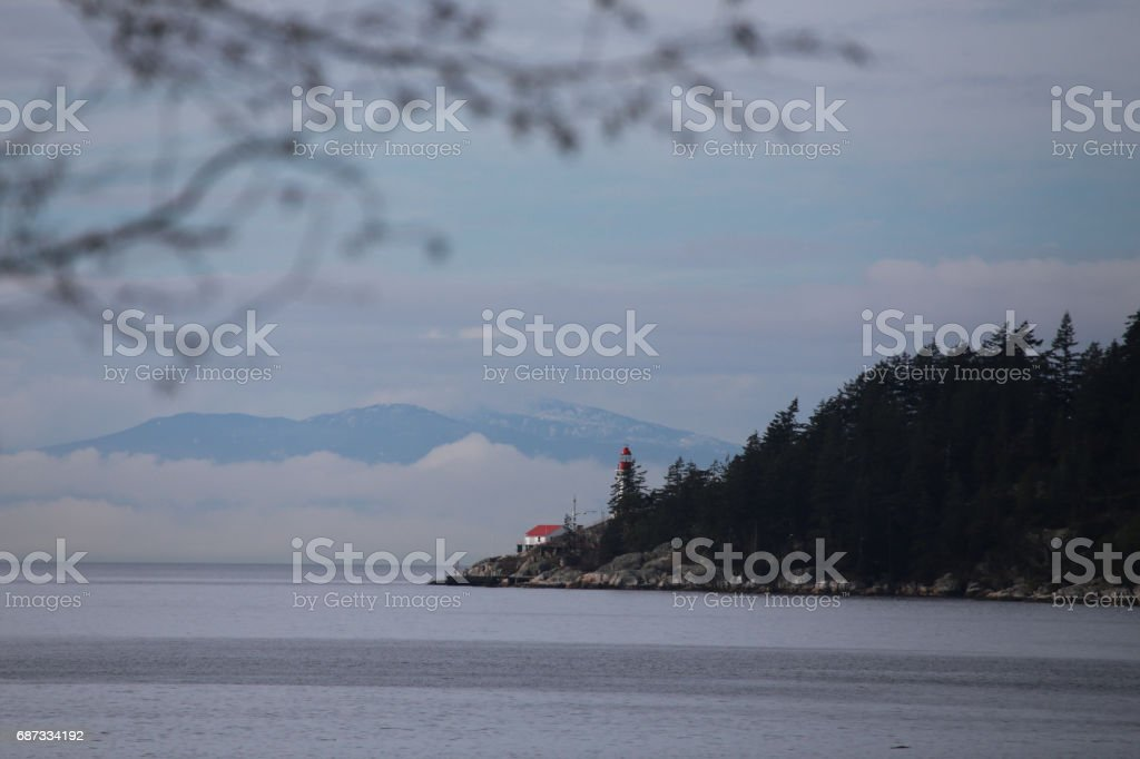 Lighthouse in Vancouver stock photo