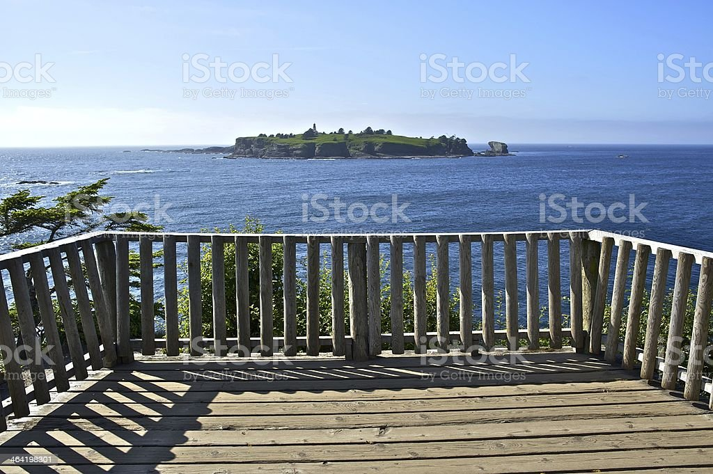Lighthouse Island Viewpoint stock photo