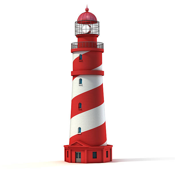 lighthouse isolated on white lighthouse isolated on white beacon stock pictures, royalty-free photos & images