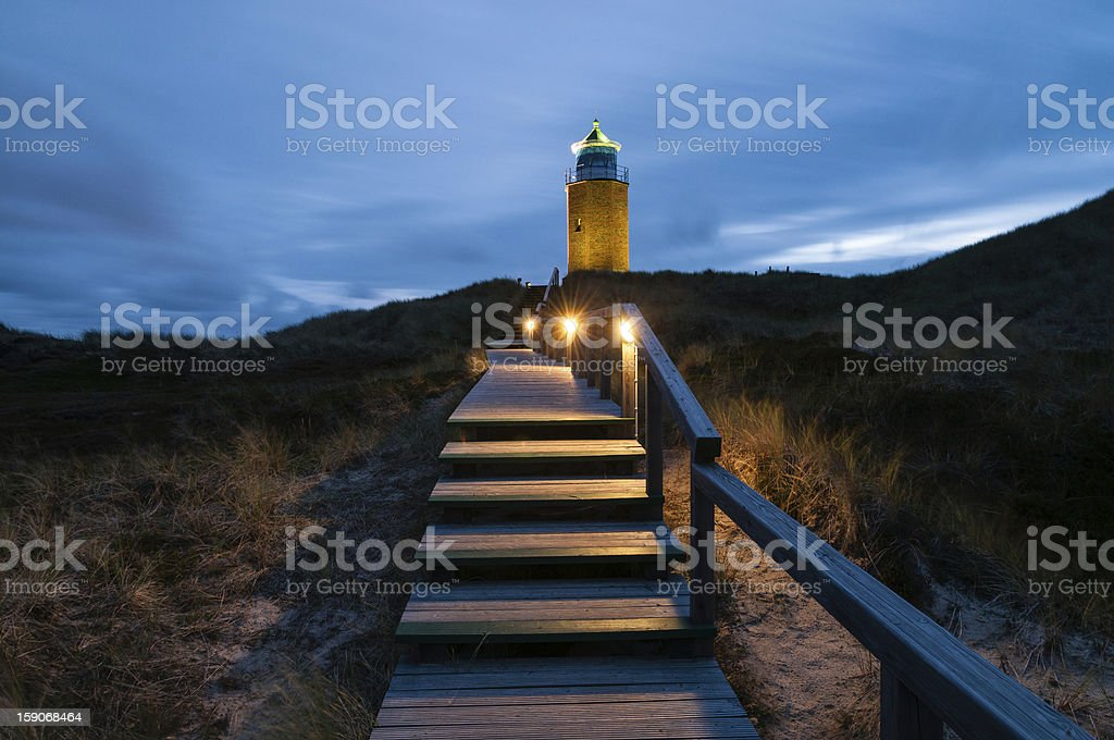 Lighthouse Kampen stock photo